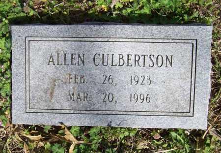 CULBERTSON, ALLEN - Benton County, Arkansas | ALLEN CULBERTSON - Arkansas Gravestone Photos