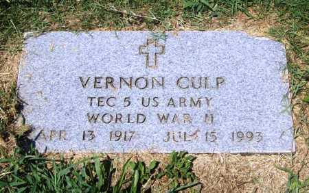 CULP (VETERAN WWII), VERNON - Benton County, Arkansas | VERNON CULP (VETERAN WWII) - Arkansas Gravestone Photos