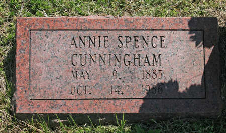 SPENCE CUNNINGHAM, ANNIE - Benton County, Arkansas | ANNIE SPENCE CUNNINGHAM - Arkansas Gravestone Photos