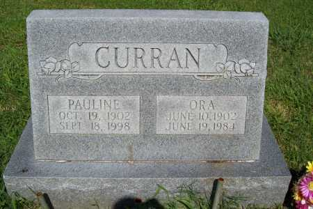 CURRAN, ORA - Benton County, Arkansas | ORA CURRAN - Arkansas Gravestone Photos