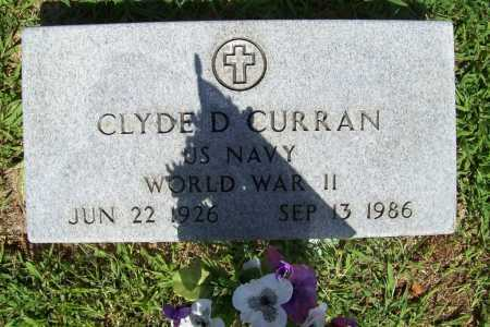 CURRAN (VETERAN WWII), CLYDE D. - Benton County, Arkansas | CLYDE D. CURRAN (VETERAN WWII) - Arkansas Gravestone Photos