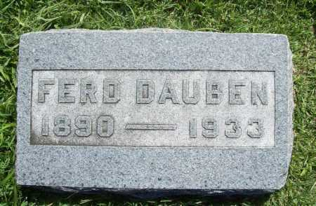 DAUBEN, FERD - Benton County, Arkansas | FERD DAUBEN - Arkansas Gravestone Photos