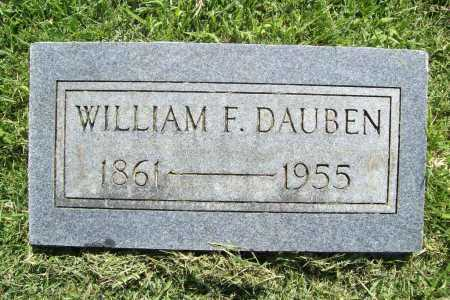 DAUBEN, WILLIAM F - Benton County, Arkansas | WILLIAM F DAUBEN - Arkansas Gravestone Photos