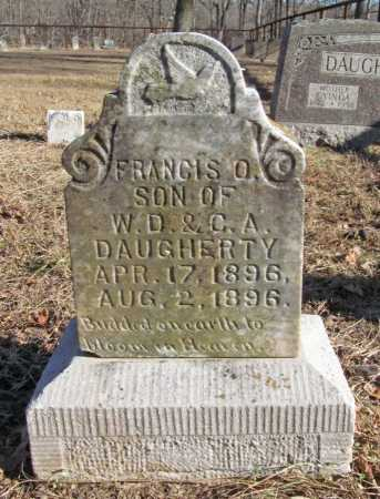 DAUGHERTY, FRANCIS O. - Benton County, Arkansas | FRANCIS O. DAUGHERTY - Arkansas Gravestone Photos
