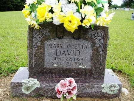 DAVID, MARY OLETTA - Benton County, Arkansas | MARY OLETTA DAVID - Arkansas Gravestone Photos