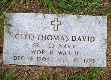 DAVID (VETERAN WWII), CLEO THOMAS - Benton County, Arkansas | CLEO THOMAS DAVID (VETERAN WWII) - Arkansas Gravestone Photos