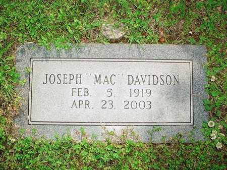 "DAVIDSON, JOSEPH ""MAC"" - Benton County, Arkansas 