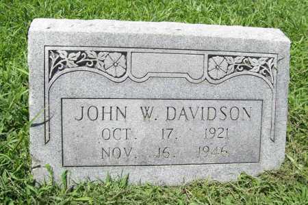 DAVIDSON, JOHN W. - Benton County, Arkansas | JOHN W. DAVIDSON - Arkansas Gravestone Photos
