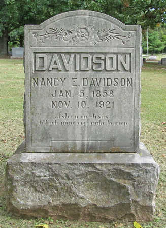 JOHNSON DAVIDSON, NANCY ELIZABETH - Benton County, Arkansas | NANCY ELIZABETH JOHNSON DAVIDSON - Arkansas Gravestone Photos