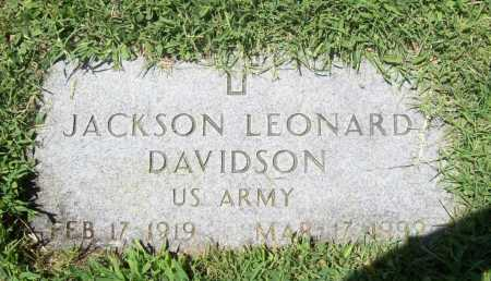 DAVIDSON (VETERAN), JACKSON LEONARD - Benton County, Arkansas | JACKSON LEONARD DAVIDSON (VETERAN) - Arkansas Gravestone Photos