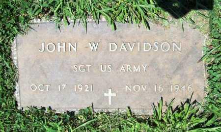 DAVIDSON (VETERAN), JOHN W. - Benton County, Arkansas | JOHN W. DAVIDSON (VETERAN) - Arkansas Gravestone Photos