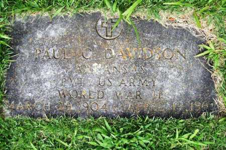 DAVIDSON (VETERAN WWII), PAUL C. - Benton County, Arkansas | PAUL C. DAVIDSON (VETERAN WWII) - Arkansas Gravestone Photos