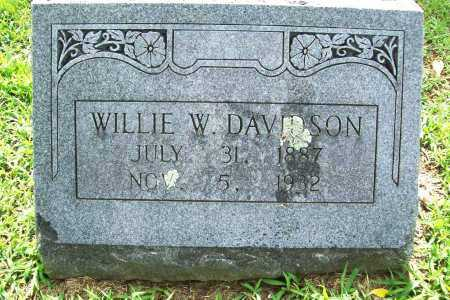 DAVIDSON, WILLIE WRIGHT - Benton County, Arkansas | WILLIE WRIGHT DAVIDSON - Arkansas Gravestone Photos