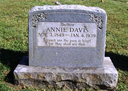 DAVIS, ANNIE - Benton County, Arkansas | ANNIE DAVIS - Arkansas Gravestone Photos