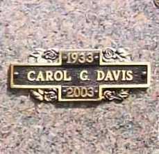 DAVIS, CAROL G. - Benton County, Arkansas | CAROL G. DAVIS - Arkansas Gravestone Photos