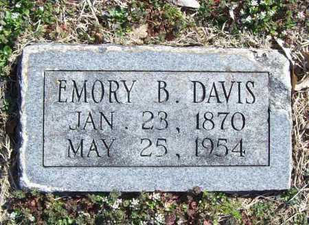 DAVIS, EMORY B. - Benton County, Arkansas | EMORY B. DAVIS - Arkansas Gravestone Photos