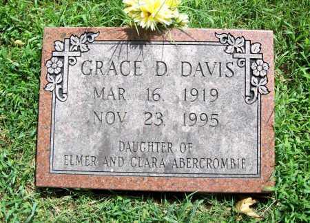 ABERCROMBIE DAVIS, GRACE D. - Benton County, Arkansas | GRACE D. ABERCROMBIE DAVIS - Arkansas Gravestone Photos