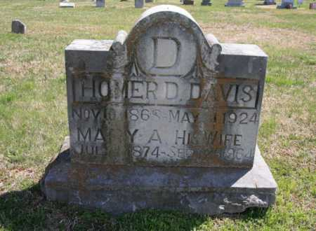 DAVIS, HOMER D. - Benton County, Arkansas | HOMER D. DAVIS - Arkansas Gravestone Photos