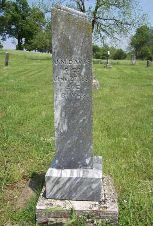 DAVIS, J. M. - Benton County, Arkansas | J. M. DAVIS - Arkansas Gravestone Photos