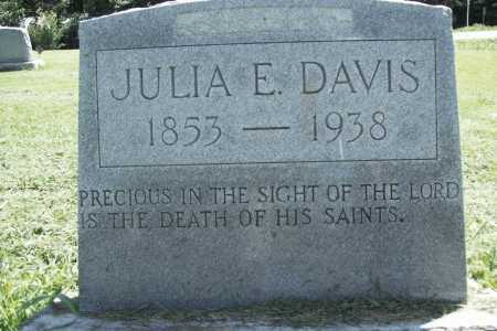 DAVIS, JULIA E. - Benton County, Arkansas | JULIA E. DAVIS - Arkansas Gravestone Photos