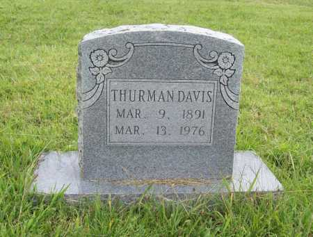 DAVIS, THURMAN - Benton County, Arkansas | THURMAN DAVIS - Arkansas Gravestone Photos