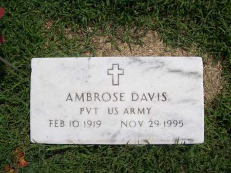 DAVIS (VETERAN), AMBROSE - Benton County, Arkansas | AMBROSE DAVIS (VETERAN) - Arkansas Gravestone Photos