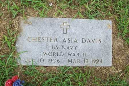 DAVIS (VETERAN WWII), CHESTER ASIA - Benton County, Arkansas | CHESTER ASIA DAVIS (VETERAN WWII) - Arkansas Gravestone Photos