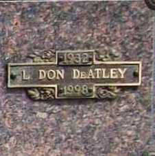 DE ATLEY, L. DON - Benton County, Arkansas | L. DON DE ATLEY - Arkansas Gravestone Photos