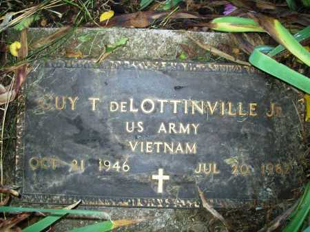 DELOTTINVILLE, JR (VETERAN VI, GUY T - Benton County, Arkansas | GUY T DELOTTINVILLE, JR (VETERAN VI - Arkansas Gravestone Photos