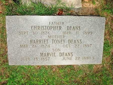 TONEY DEANS, HARRIET - Benton County, Arkansas | HARRIET TONEY DEANS - Arkansas Gravestone Photos