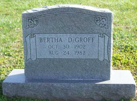 DEGROFF, BERTHA - Benton County, Arkansas | BERTHA DEGROFF - Arkansas Gravestone Photos