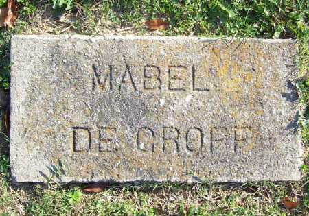DEGROFF, MABEL - Benton County, Arkansas | MABEL DEGROFF - Arkansas Gravestone Photos