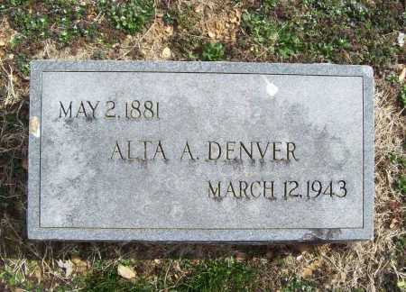 DENVER, ALTA A. - Benton County, Arkansas | ALTA A. DENVER - Arkansas Gravestone Photos