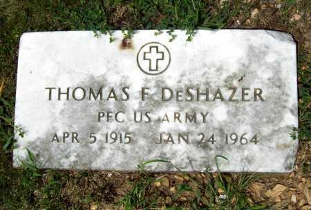 DESHAZER (VETERAN), THOMAS FRANKLIN - Benton County, Arkansas | THOMAS FRANKLIN DESHAZER (VETERAN) - Arkansas Gravestone Photos