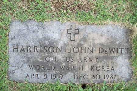 DEWITT (VETERAN 2 WARS), HARRISON JOHN - Benton County, Arkansas | HARRISON JOHN DEWITT (VETERAN 2 WARS) - Arkansas Gravestone Photos