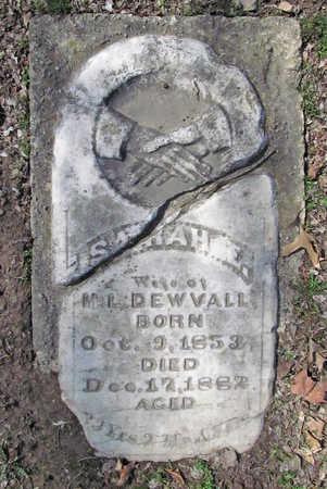 DEWVALL, SARAH E - Benton County, Arkansas | SARAH E DEWVALL - Arkansas Gravestone Photos