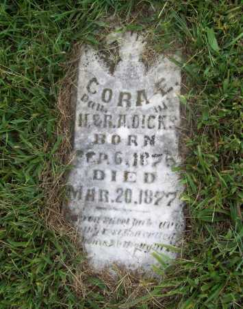 DICKS, CORA E. - Benton County, Arkansas | CORA E. DICKS - Arkansas Gravestone Photos