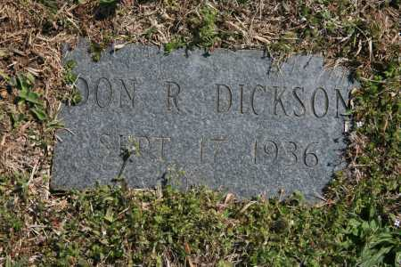 DICKSON, DON R. - Benton County, Arkansas | DON R. DICKSON - Arkansas Gravestone Photos