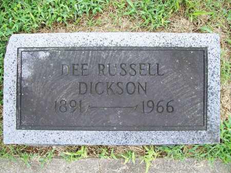 DICKSON, DEE RUSSELL - Benton County, Arkansas | DEE RUSSELL DICKSON - Arkansas Gravestone Photos