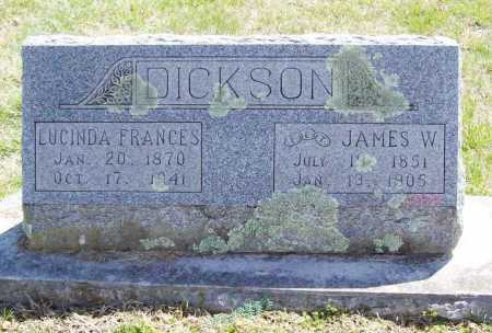 DICKSON, LUCINDA FRANCES - Benton County, Arkansas | LUCINDA FRANCES DICKSON - Arkansas Gravestone Photos
