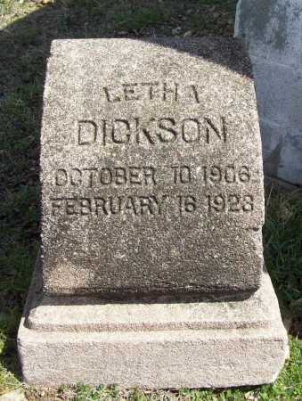 DICKSON, LETHA - Benton County, Arkansas | LETHA DICKSON - Arkansas Gravestone Photos