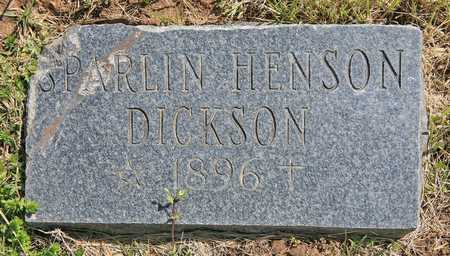 DICKSON, SPARLIN - Benton County, Arkansas | SPARLIN DICKSON - Arkansas Gravestone Photos