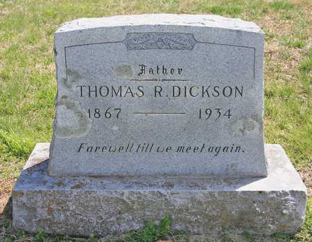 DICKSON, THOMAS R - Benton County, Arkansas | THOMAS R DICKSON - Arkansas Gravestone Photos