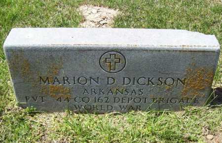 DICKSON (VETERAN WWI), MARION D - Benton County, Arkansas | MARION D DICKSON (VETERAN WWI) - Arkansas Gravestone Photos