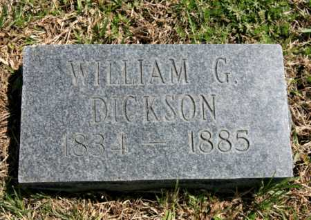 DICKSON, WILLIAM G. - Benton County, Arkansas | WILLIAM G. DICKSON - Arkansas Gravestone Photos