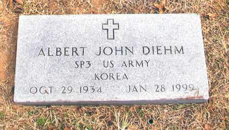 DIEHM (VETERAN KOR), ALBERT JOHN - Benton County, Arkansas | ALBERT JOHN DIEHM (VETERAN KOR) - Arkansas Gravestone Photos