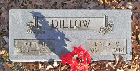 PRUITT DILLOW, MAUDE V. - Benton County, Arkansas | MAUDE V. PRUITT DILLOW - Arkansas Gravestone Photos