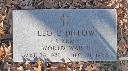 DILLOW (VETERAN WWII), LEO C - Benton County, Arkansas | LEO C DILLOW (VETERAN WWII) - Arkansas Gravestone Photos