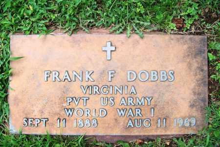 DOBBS (VETERAN WWI), FRANK F. - Benton County, Arkansas | FRANK F. DOBBS (VETERAN WWI) - Arkansas Gravestone Photos
