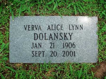 DOLANSKY, VERVA ALICE - Benton County, Arkansas | VERVA ALICE DOLANSKY - Arkansas Gravestone Photos